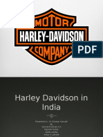 HBS case Harley Davidson In India (A)