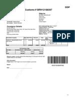 Return Note - BRH12188307
