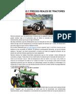 Presupuestos y Precios Reales de Tractores