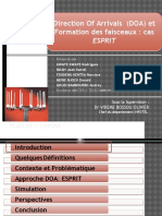 Direction Of Arrivals (DOA) et Formation des faisceaux