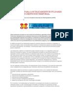 Protocolo Para Los Tratamientos Pulpares en Dentición Temporal