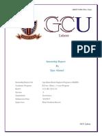 Internship Report on A