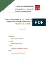 EXPLICACIÓN SECUENCIAL DE LA PRÁCTICA EFECTUADA SOBRE LA DESINTEGRACIÓN DE SEMILLAS DE MOLLE, OBJETIVOS DE LA MISMA.docx