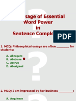 18.1 Sentence Completion Exercises