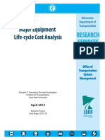 Major Equipment Life-cycle Cost Analysis