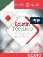 01-Boletin Tecnico 2016 Enero