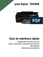 Epson Stylus TX420w Guia de referência rápida