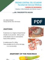 Pancretitis Aguda. Dr Jorge Estrada