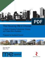 Housing We'd Choose With Appendices - A Council Report