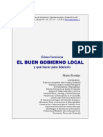 El Buen Gobierno Local Como Funciona y Liderarlo Mario Rosales (1)