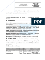 Procedimiento Atencion de Peticiones Quejas y Reclamos OSM
