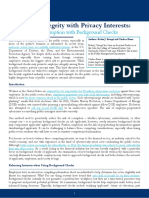Balancing Integrity With Privacy Interests