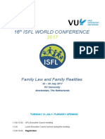 ISFL World Conference 2017 Programme