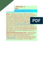 Sinusitis y Acupuntura