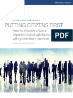 Putting Citizens First How to Improve Citizens Experience and Satisfaction With Government Services