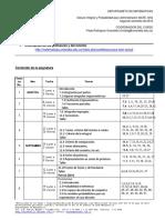 Syllabus Cálculo Integral y Probabilidad