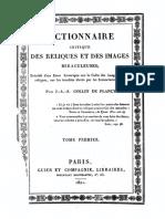 Plancy C de Dictionnaire Critique Des Reliques Et Des Images Miraculeuses 1