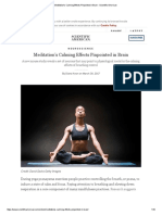 Meditation's Calming Effects Pinpointed in Brain - Scientific American