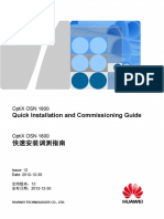 OSN 1800 Quick Installation and Commissioning Guide 12