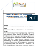 Sintesi Studio Caffarelli Su Grid Parity Fotovoltaico