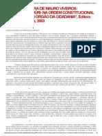 PREFÁCIO À OBRA DE MAURO VIVEIROS_ _TRIBUNAL DO JÚRI- NA ORDEM CONSTITUCIONAL BRASILEIRA_ UM ÓRGÃO DA CIDADANIA_, Editora Juarez de Oliveira, 2003.pdf