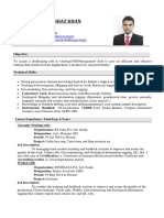 CV FOR GIS or Geologist
