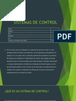 Presentacion Sistemas de Control