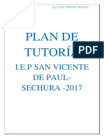 Plan de Tutoría San Vicente de Paul
