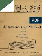 TM 9-235 37MM 1944