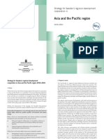 Strategy for Sweden's Regional Development Cooperation in Asia and the Pacific Region 2016–2021