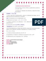 Multiplicación Con Notacion Cientifica