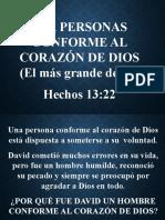 18. Seamos Personas Conforme Al Corazón de Dios
