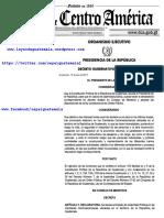 Decreto Gubernativo 5-2017 Guatemala