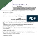Constitución de La República de Paraguay