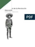 Personajes de La Revolución Mexicana