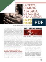 La Trata Humana y la falta de Acceso a la Justicia