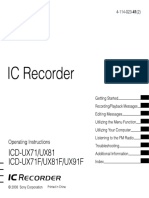 Sony IC Recorder ICD UX71F User Manual 4114023412