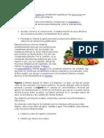 Alimentos, Higiene, Preparacion y Conservación