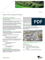 Napier Street upgrade - July 2017 update