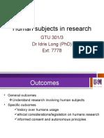 Human Ethics 1-IDRIS 2016