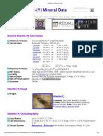 Allanite-(Y) Mineral Data1