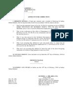 Affidavit of Correction (Land)
