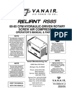 VanAir Compressor Parts Manual Reliant
