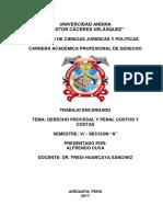 Monografia Derecho Procesal y Penal Costos y Costas
