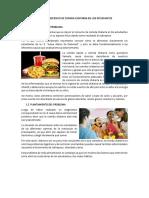 Consumo Excesivo de Comida Chatarra en Los Estudiantes
