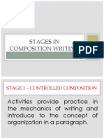 Stages in Composition Writing