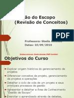 Gestão Escopo ParteI 10SET2016