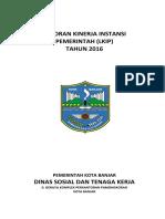 Lakip Dinsosnaker Kota Banjar Tahun 2016