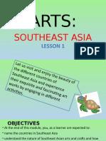 Arts Southeast Asia Lesson1 g8 q1