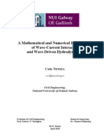 A Mathematical and Numerical Examination of Wave-Current Interaction and Wave-Driven Hydrodynamics